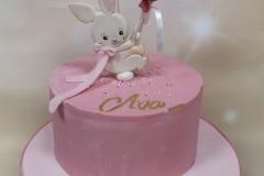 Ava - Bunny and Balloons Christening Cake