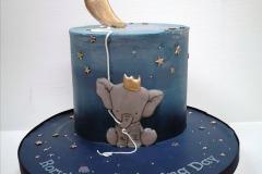 Rory - Moon Balloon Christening Cake