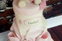Isobel - Bear and Bows Christening Cake