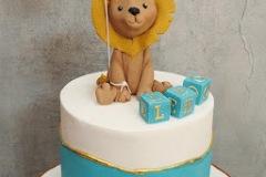 Lep - Lion and Blocks Christening Cake
