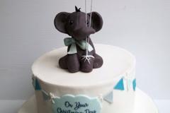 Tadgh - Elephant Christening Cake