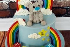 Flynn - Rainbow Bear Naming Day Cake