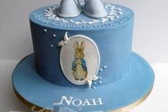 Noah - Peter Rabbit  Christening Cake
