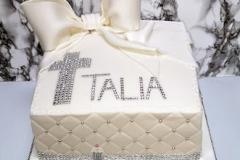 Talia - Sparkle & Box Christening Cake