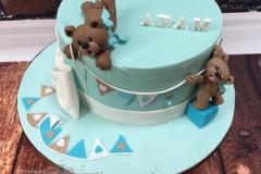 Adam - Teddy Bear Christening Cake