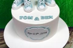 Tom & Ben - Christening Cake