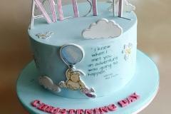 Ailbhe - Winnie the Pooh Christening Cake