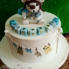 Baby Theo - Fly Bear Christening Cake