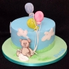 Daniel  - Bear and Balloons Christening Cake
