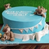 Liam - Teddy Bear Christening Cake