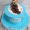 Louis - Monkey Christening Cake