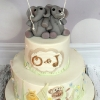 Oscar and Juliette - Elephant Christening Cake