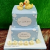 Joshua - Rubber duckies christening cake