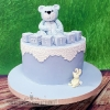 Emilio - Teddy Bear Christening Cake