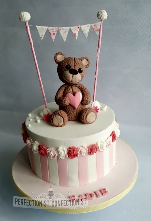 Sadie - Bear and Bunting Christening Cake