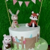 Summer Lily - Woodland Christening Cake