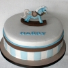 Harry - Rocking Horse Christening Cake