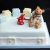 Mason - Bear and Blocks Christening Cake