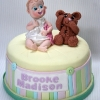 Brooke - Bear and Baby Christening Cake