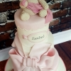Isobel - Bear and Bows Christening Cake