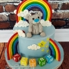 Flynn - Rainbow Bear Naming Day Cake
