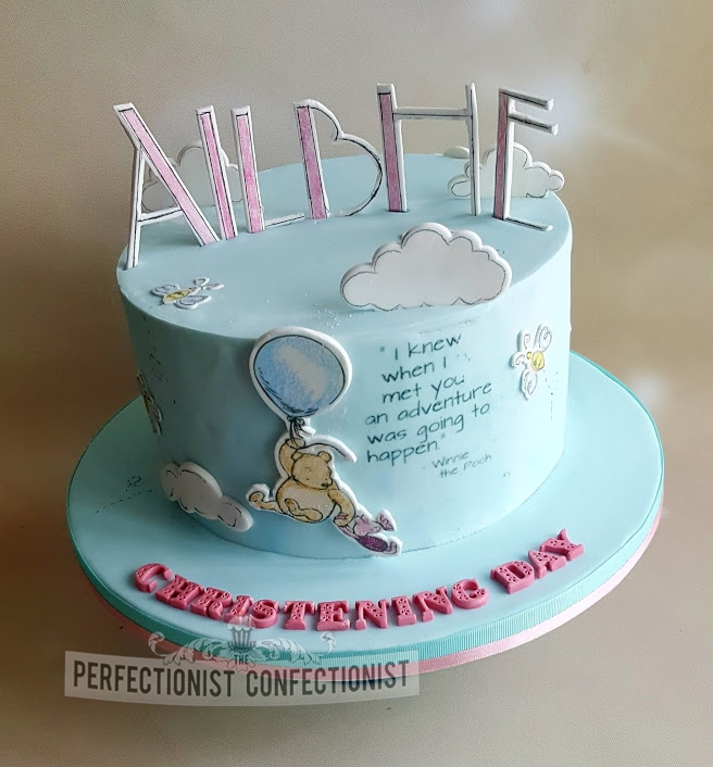 Ailbhe - Winnie the Pooh Christening Cake