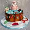 Snowman and Santa - Christmas Cake