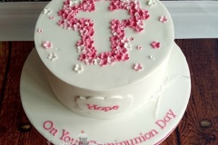 Hope - Pink Blossoms Communion Cake
