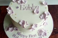 Eabha - Purple Blossoms Communion Cake