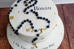 Ronan - Rosary Beads Communion Cake