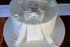 Amara - Ribbon and Roses Communion Cake