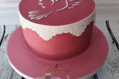 Amy - Lace Dove Confirmation Cake