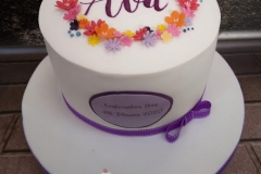 Ava - Floral Confirmation Cake