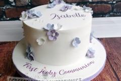 Ailbhe - Purple Blossoms Communion Cake