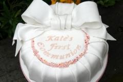 Katie - Bow Communion Cake