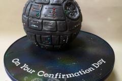 Kelly - Deathstar Confirmation Cake