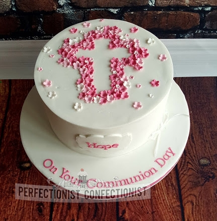Hope - Pink Blossoms Communion Cake