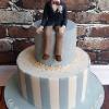 Matthew - Blue and white communion cake