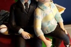 50th wedding anniversary cake topper couple