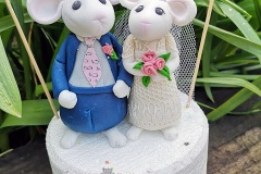 Catherine - Mouse Wedding Cake Toppers