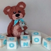 Teddy Bear and blocks Cake Topper