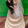 Sean and Deirdre - Handmade wedding cake topper