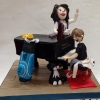 Grand Piano, teacher and student cake topper