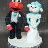 Elmo and Lamb Cake Topper