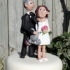 Paula and the Golfing Legend Wedding Cake Topper