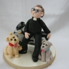 Biking Priest Cake Topper