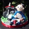 Biker Boy Cake Topper