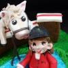 Horse Jump Cake Topper