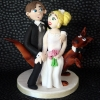 Bride, Groom and Kangaroo too Wedding Cake Topper