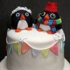 Penquins Wedding Cake Topper